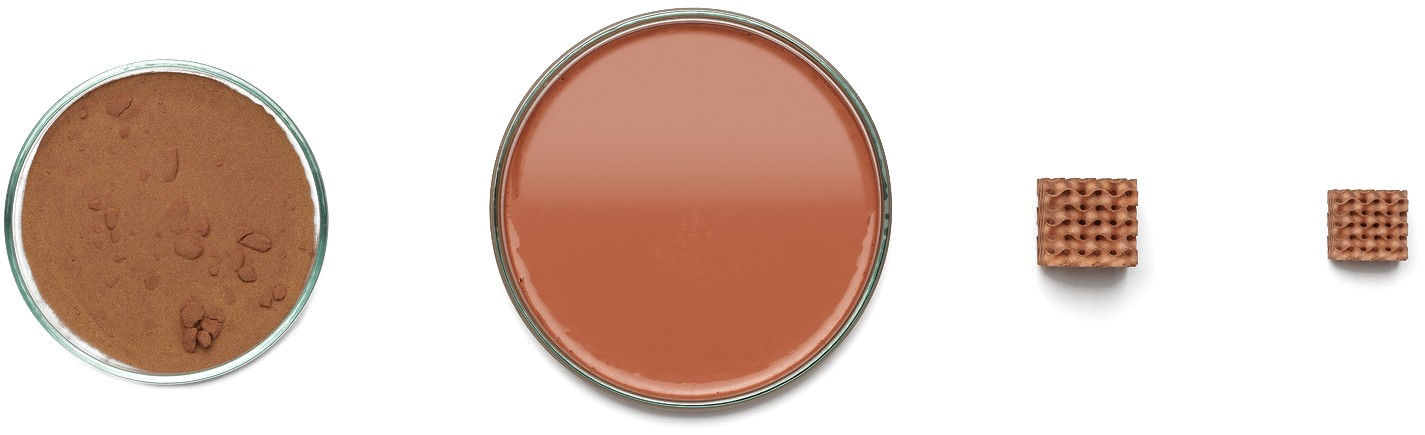 copper slurry white background